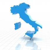 Fotografie Extruded map of Italy