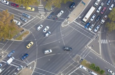 Top down view of an intersection