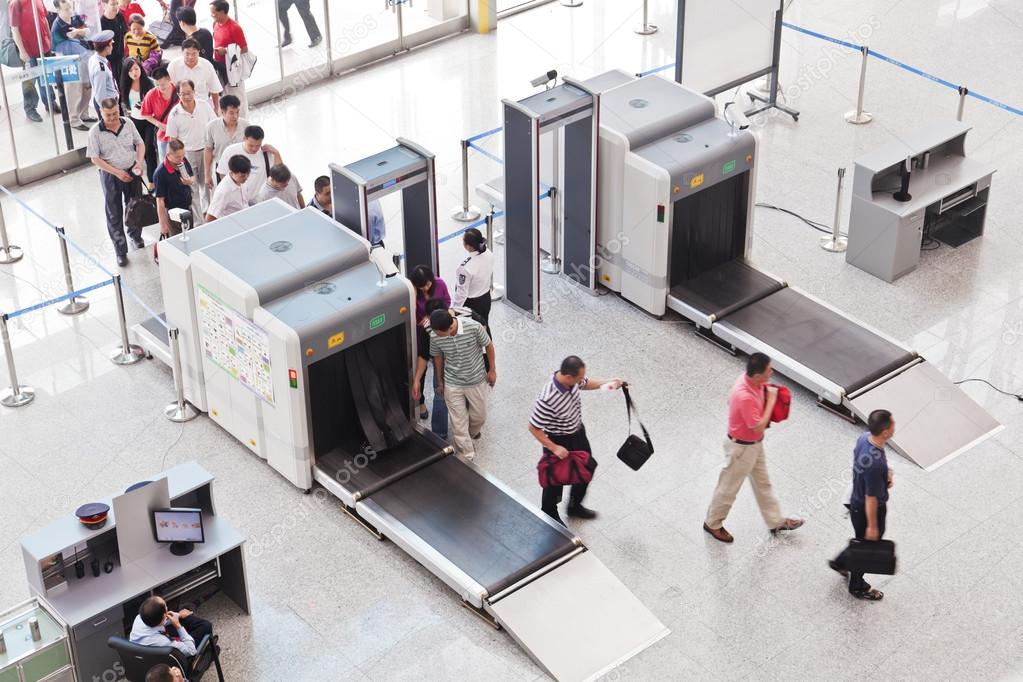 Security check at Guangzhou South Railway Station