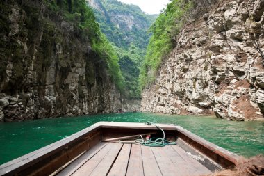 Sailing through the Small Three Gorges in China