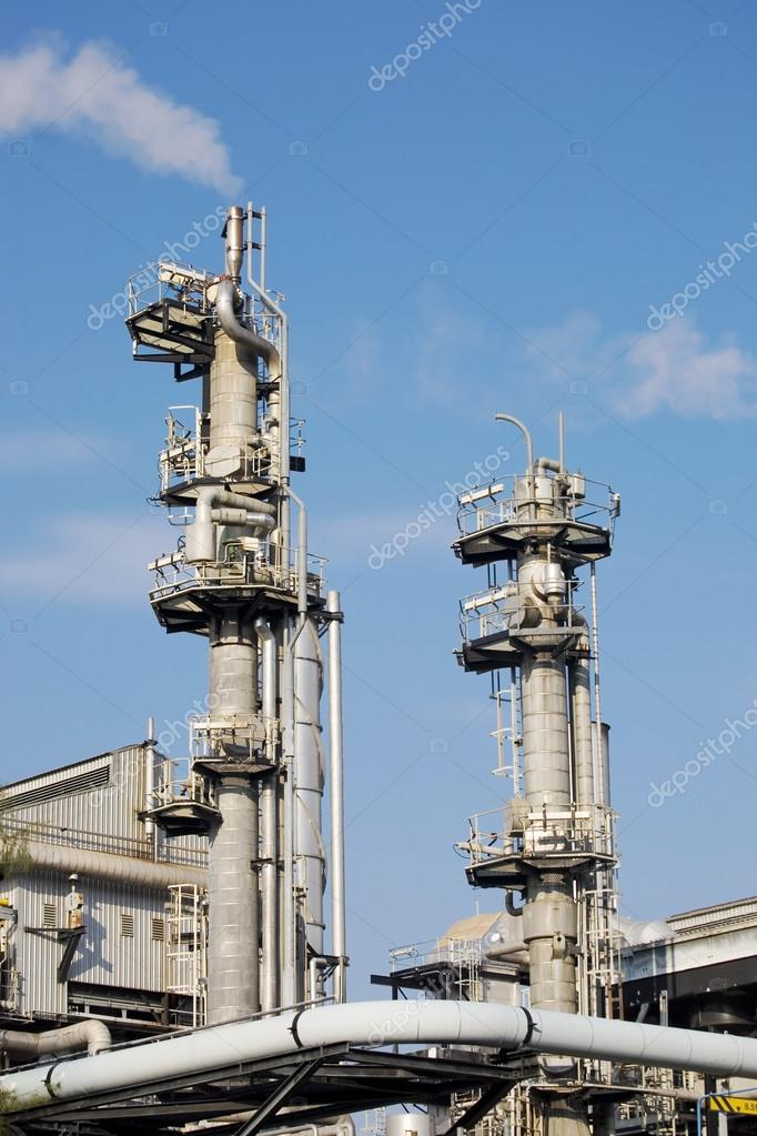 Chimneys of industrial plant