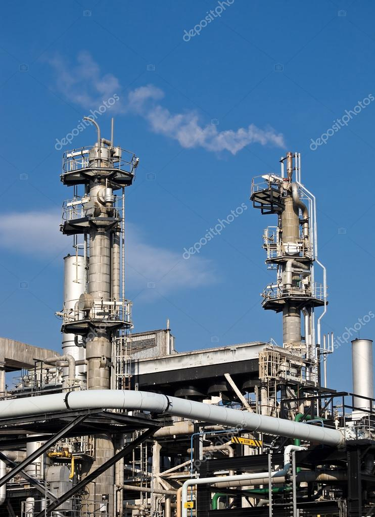 Chimneys of a gas fuel plant