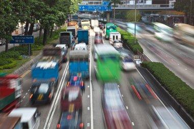 Traffic jam in Hong Kong