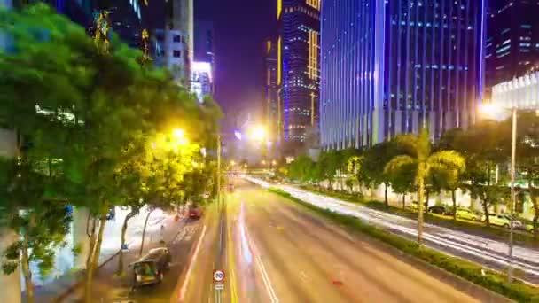 rušnou ulici v hong Kongu
