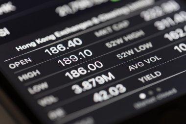 Stock market data on iPhone Stocks app
