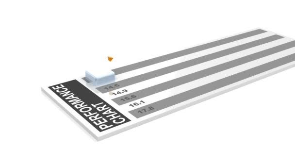 3d animation of rising business chart