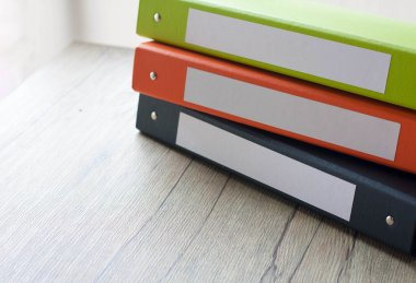 Colorful document binders
