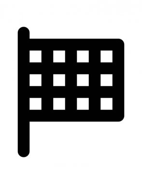 hotel and construction line vector icon.