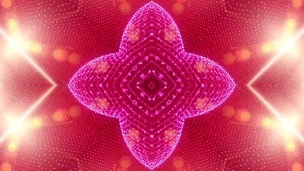 Červené pozadí abstraktní vyrobené z mnoha malých prvků 2