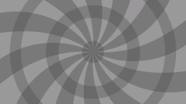 Animované pozadí radiální. šedá