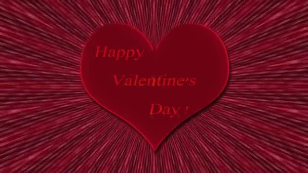 Srdce s nápisem Happy Valentine