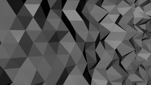 dark black low poly abstract background