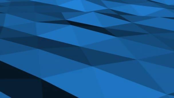 Tmavě modré nízké poly abstraktní pozadí