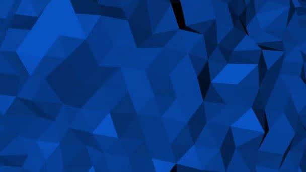 Dunkelblauer Low Poly abstrakter Hintergrund