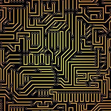 Circuit board seamless pattern