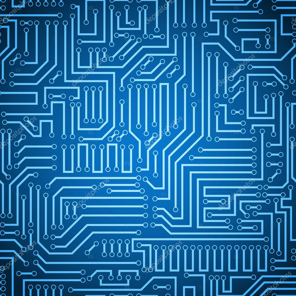 Printed Circuit Board In Electric Blue Stock Photo Image 8534470