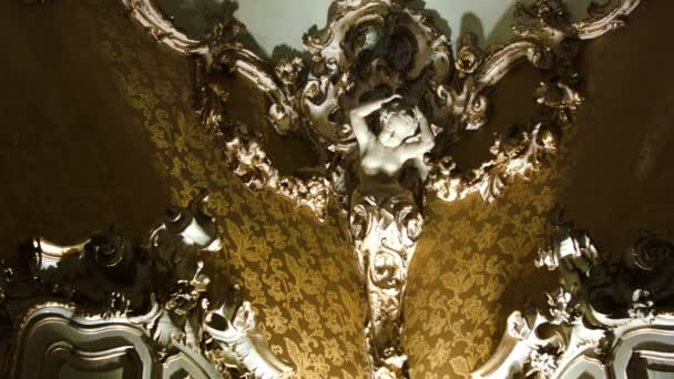 Ornate interior design with female bust