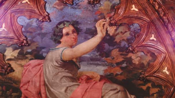 A díszes szobák, egy olasz reneszánsz Villa freskókkal