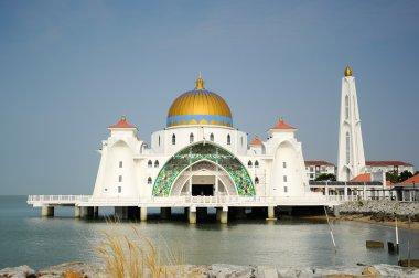 Malacca Straits Mosque (Masjid Selat Melaka) in Malacca