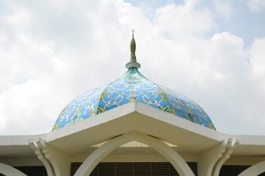 Sultan Ismail Airport Mosque at Senai Airport in Malaysia