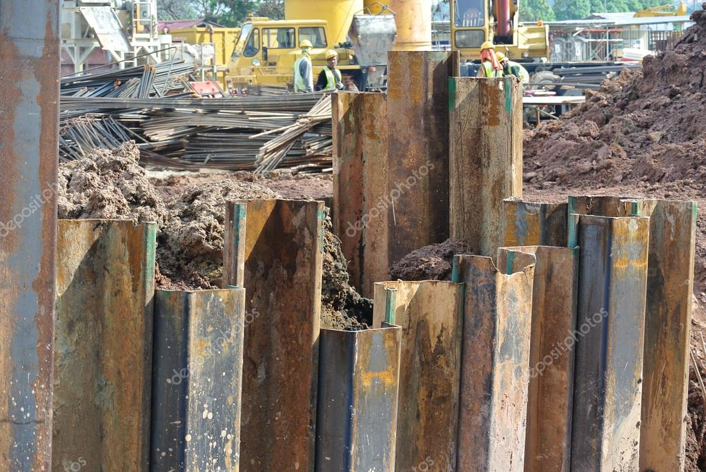 Retaining wall steel sheet pile