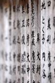 Buddhistické modlitby Dřevěná deska v Nikkó, Japonsko