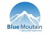 Fotografia Blue Mountain Logo o icona per società generale