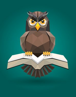 Vector Owl as symbol of science and education