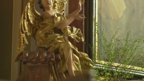 Gilded Baroque Angel Sculpture