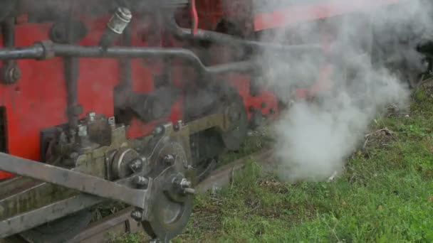 Dampf aus Lokomotivrohren