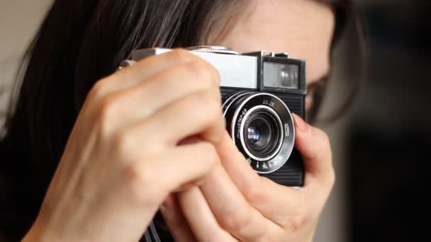 Starý fotoaparát focení