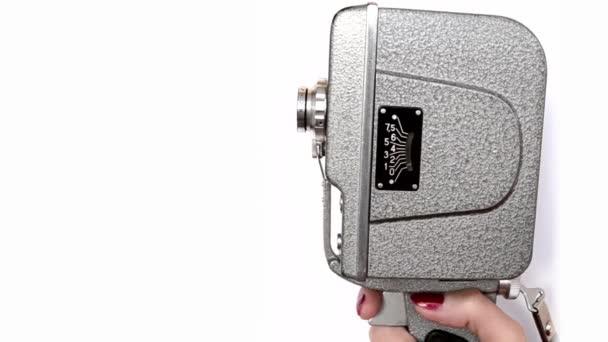 Old Hand Held Reel Film fotocamera 1