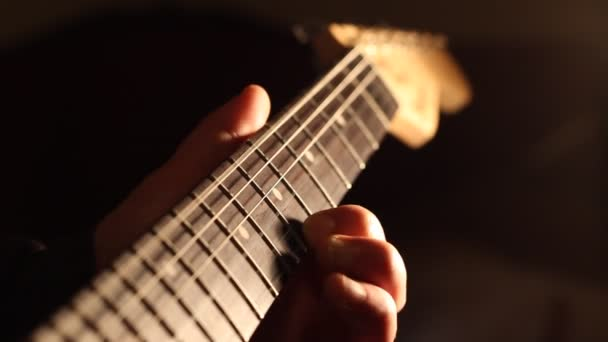 Strings and Neck of Guitar