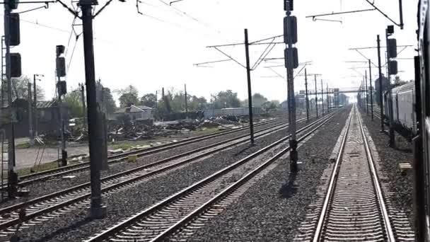 Vlakové pasy pomalu železnice Yard