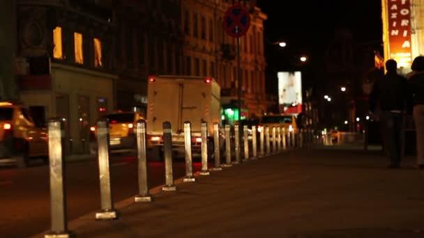 Bürgersteig in der Nacht