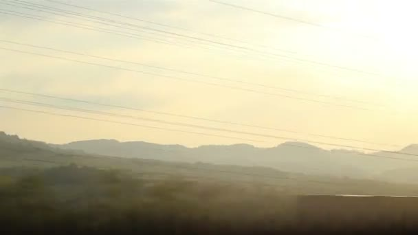 Sun krajiny z rychlosti vlaku
