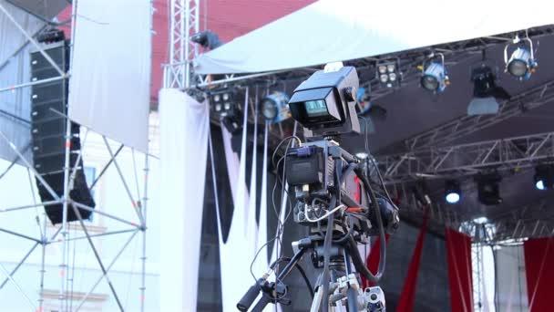 Television Camera with Control Monito