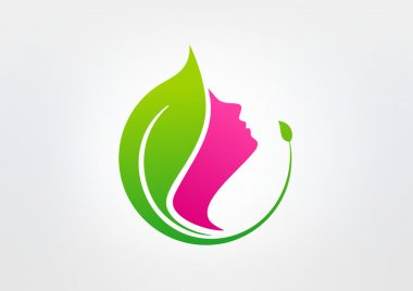 Green beauty healthy vector logo design