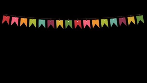 Színes zászló, Bunting Party dekorációk - Gyönyörű fecskefarkú sármány zászló - grafika