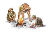 Neandertaler-Familie