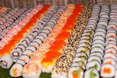 Row of sushi