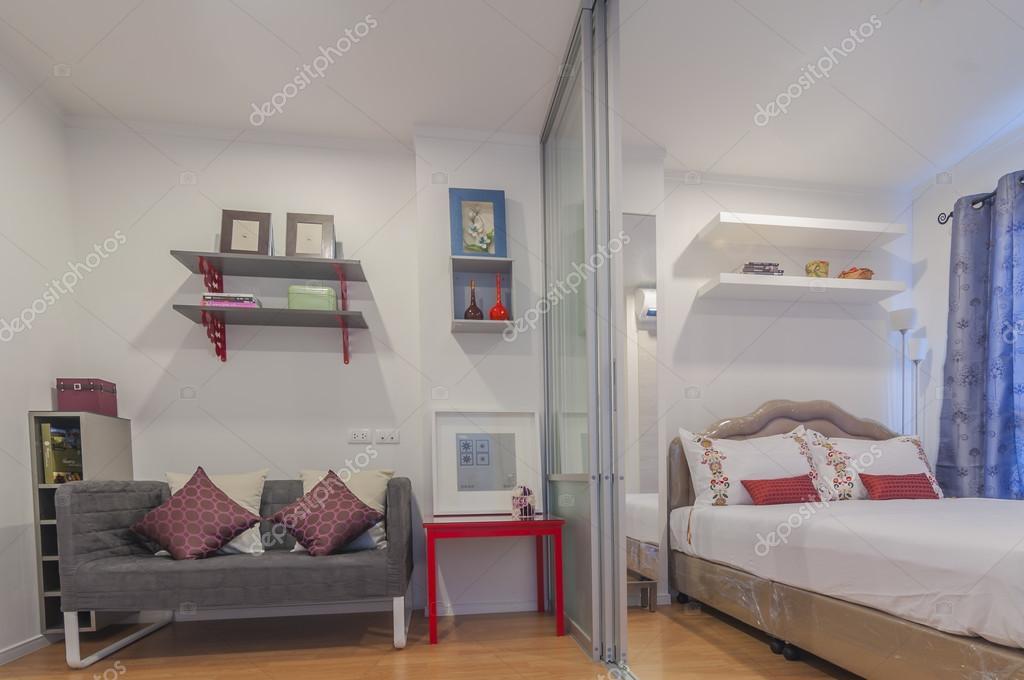 Decorated Modern Style Condominium Studio Type Stock Photo
