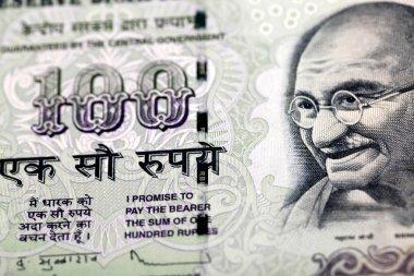 Gandhi on hundred rupee note