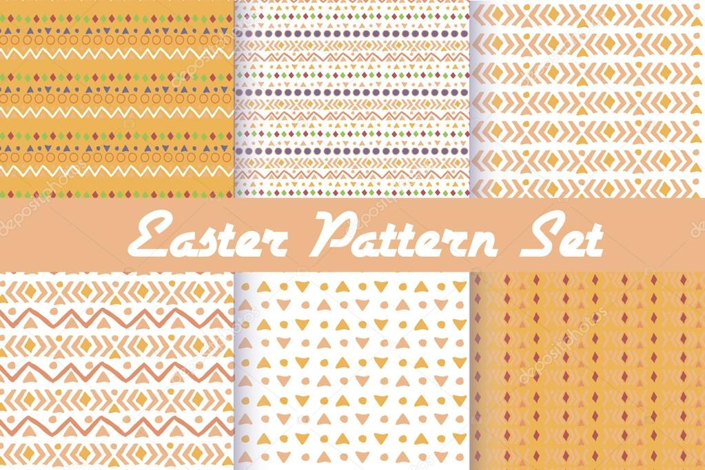 Happy Easter. Set of cute holiday backgrounds.