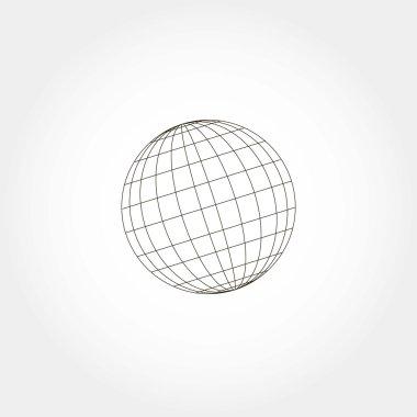 Sphere icon, vector illustration