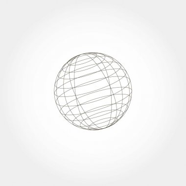 Sphere icon, vector illustration