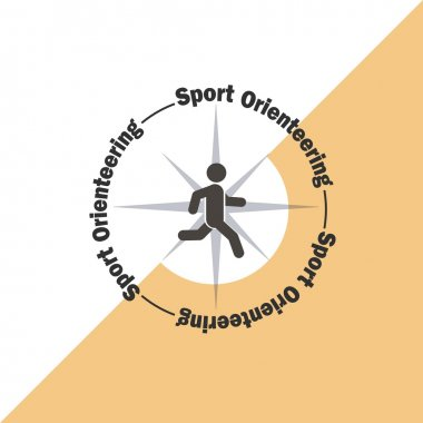 Sport orienteering logo icon. Vector illustration