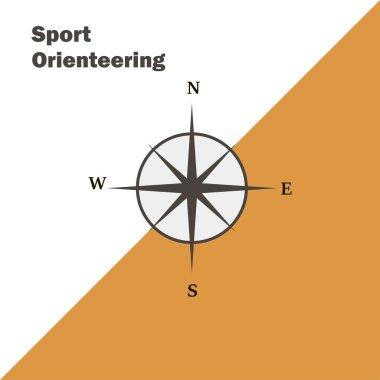 Sport orienteering logo icon