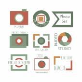 Fotografie Vektorové kolekce fotografie logo šablon. Photocam logotypů. Fotografie starých odznaky a ikony. Ikony moderní hromadné sdělovací prostředky. Foto štítky