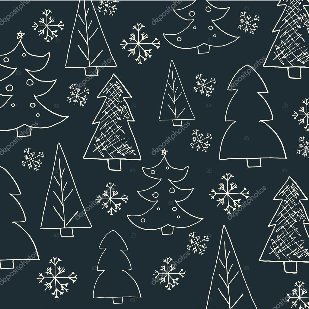 Seamless christmas pattern with trees ideal for wrapping paper seamless christmas pattern with trees ideal for wrapping paper invitation card or other print stopboris Images